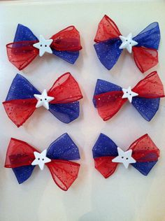 Fourth of July hairbows! so neat not just for 4thof july wear them any time i love this hope u do