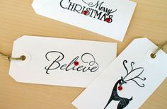 GroopDealz | Hand-stamped Christmas Gift Tags - Set of 12