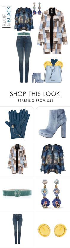 """""""Blue (and brown) is the new black"""" by anet-ko on Polyvore featuring Henri Bendel, Charlotte Russe, Norma Kamali, Alberta Ferretti, Sandra Mansour, Alice Cicolini, NYDJ, Dolce&Gabbana and Armani Jeans"""
