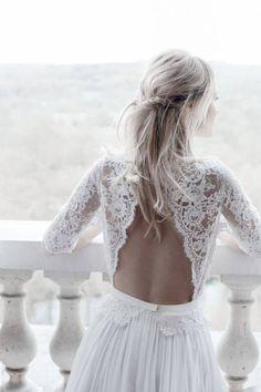Robe de mariée dentelle avec manches
