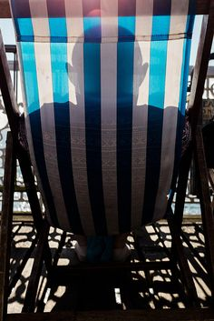 Deck chair. Brighton September 2013. Brighton And Hove, Deck Chairs, England, September 2013, Photography, Silhouette, Home Decor, Poster, Beach Chairs