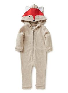 Baby Clothes Jumpsuits | Nb Fox Jumpsuit | Seed Heritage