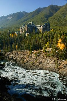 Banff Springs Hotel, Banff National Park, Alberta, Canada.  Honeymooned here!  would love to go back . . .