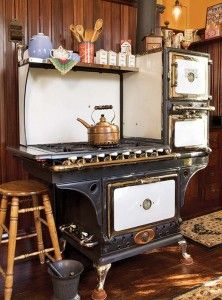 With three ovens, this 1915 vintage Eriez stove is in mint condition and fully functional.