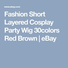 Fashion Short Layered Cosplay Party Wig 30colors Red Brown | eBay