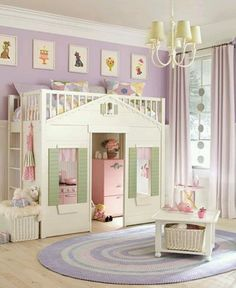 little girl's room :) love the play house doubling as a bed.