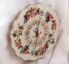 """Часы для дома ручной работы. Ярмарка Мастеров - ручная работа Часы """"Королева Лета"""" LIGHT. Handmade."""