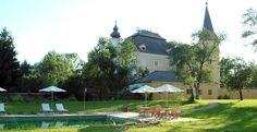 Schloss Mühldorf AUT Kirchen, Romantic Weddings, Austria, Gazebo, Castle, Outdoor Structures, Patio, Places, Outdoor Decor
