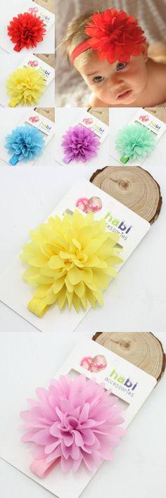 0fdc0cdf4ba Hot Sale baby girl elastic headband children hair wear for kids head band  flower headband baby