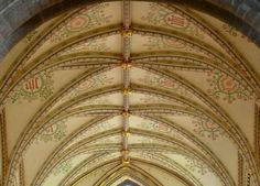 Chancel Ceiling, Landaff Cathedral, Wales. Victorian restoration
