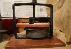 Cheese Press, wood and cast iron frame, single thread
