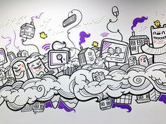 Digital Hub Murals on Behance