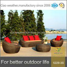 2014 barato jardín de mimbre sofá de muebles de mimbre al aire libre