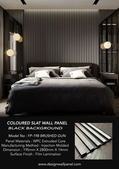 2021 NEW COLOURED FLUTED PANEL The Modern Coloured Fluted panel range is the latest addition to our FLUTED ( Black Background ) collection. Produced with a smoother, modern-looking metallic finish with black line.The Modern coloured fluted panel range is perfect if you are looking for the Modern slat look design also with stylish and luxury feature walls. Tv Wall Panel, Wood Panel Walls, Textured Wall Panels, Decorative Panels, Faux Brick Walls, Slat Wall, Interior Walls, Interior Design, Bedroom Wall