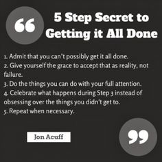 New Nostalgia – 5 Step Secret To Getting It All Done