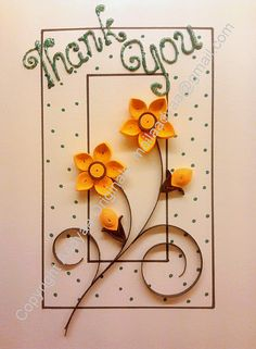 card using quilling
