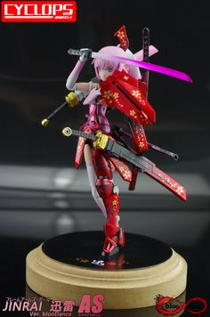FAG JINRAI-AS Ver.blooDance 3d Figures, Action Figures, Character Concept, Character Design, Frame Arms Girl, Robot Girl, Anime Figurines, Polymer Clay Miniatures, Anime Dolls