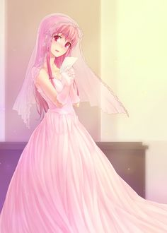 Gasai Yuno in wedding dress