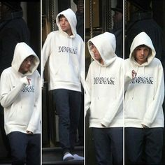 Louis leaving the hotel in London this morning (12.12.16) poor baby
