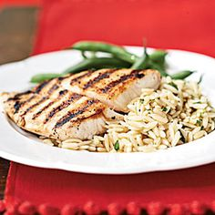Transitional Recipes for Baby: 12-18 Months | Pan-Grilled Snapper with Orzo Pasta Salad | CookingLight.com