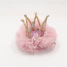 Baby Crystal Crown Headband Princess Crown Headband Gold