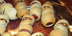 halloween pigs in a blanket recipe | These little pigs-in-a-blanket, dressed up as Halloween mummies, will ...