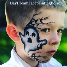Yes yes yes to all of this booooo static inspiration by 👻👻🎨✨❤️ bring on the Halloween fun! Halloween Face Paint Designs, Face Painting Halloween Kids, Halloween Makeup For Kids, Theme Halloween, Kids Makeup, Face Painting Tutorials, Face Painting Designs, Halloween Gesicht, Face Paint Makeup