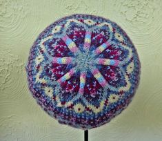A beautiful, colourful Fair Isle Hat, knitted in the round and great for using up leftover scraps of 4 ply yarn. Fair Isle Knitting Patterns, Fair Isle Pattern, Knitting Designs, Simply Knitting, Free Knitting, Knit Crochet, Crochet Hats, Crochet Ideas, 4 Ply Yarn