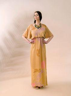 "Day OR Night? A maxi dress works both ways! ITEM CODE: 121504 - ""Bohodisco"" silk-blend dress"
