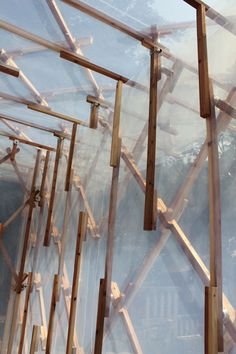 Kengo Kuma's temporary dwelling made from wood, plastic and magnets