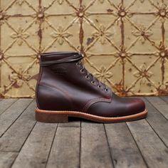 Chippewa service boots cordovan