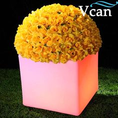 69.80$  Know more - http://aibwv.worlditems.win/all/product.php?id=1396660360 - Waterproof Outdoor PE Plastic LED Light Flower Pot VC-F3838 for the home garden really nice choose