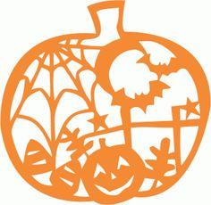 Silhouette Online Store - View Design #49800: halloween pumpkin scene cutout