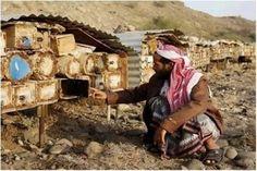#Yemen at work Beekeeper supplies his bees with nest cavities