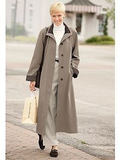 Shop Long Silk-Look Raincoat and other Womens Rain and Womens Clothing in Misses, Petite, and Plus Sizes.