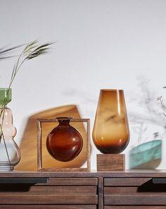 Kave Home Set Stich de 2 vases Bleu