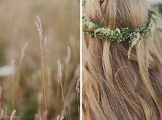 Floral crown by Living Fresh | Cambridge RARE Slit Barn vintage boho DIY wedding | KJ and Co. www.kjandco.ca | Trusted for one of a kind weddings in Burlington Oakville Hamilton Niagara Toronto GTA wedding planner, coordinator