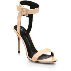Giuseppe Zanotti Strappy Patent Leather Sandals (17 585 UAH) ❤ liked on Polyvore featuring shoes, sandals, heels, apparel & accessories, ankle strap shoes, strap sandals, high heel shoes, heeled sandals and ankle wrap sandals