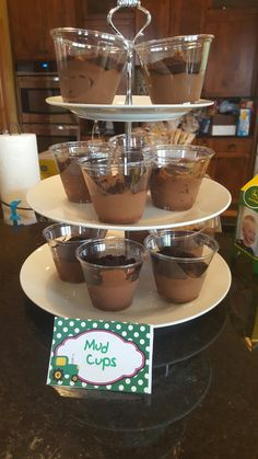 Mud cups for tractor party
