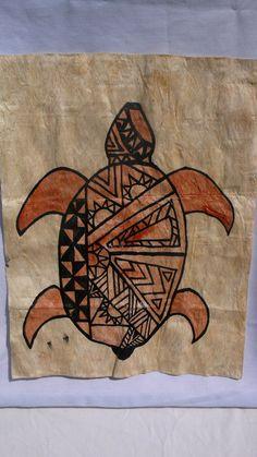 Polynesian original turtle art by OfaLahi on Etsy, $35.00