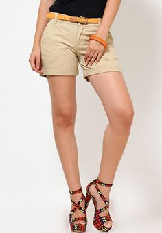 Benetton Plain Brown Summer Shorts In  United Colors