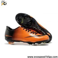 New Orange Black Green Nike Mercurial Vapor IX FG Football Shoes On Sale