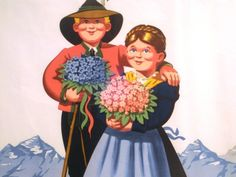 Welcome - charming poster of Austria's tourist organization beginning in the Vintage Travel, Vintage Designs, Austria, 1950s, Disney Characters, Fictional Characters, Snow White, Posters, Organization
