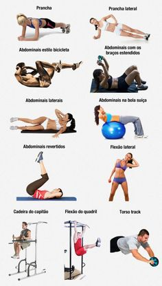 Apresentamos os melhores exercícios para treinar abdominais. Com esses exercícios você fará um treino de abdominais completo.