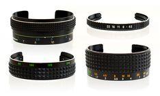 Vintage Camera Lens Bracelets by SDPNT jewelry