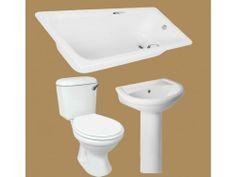 White Thandi Bathroom Set Bathroom Basin, Bathroom Sets, Basins, Toilet, Home Decor, Decoration Home, Room Decor, Litter Box, Flush Toilet