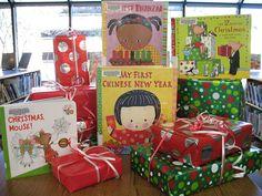 holiday book display