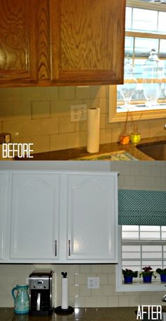 DIY tutorial: how to add modern hardware to old cabinets