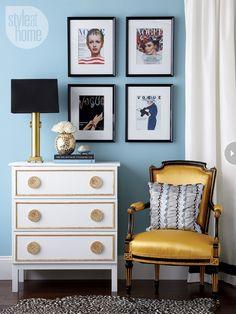 Dresser makeover: Gilded glamour