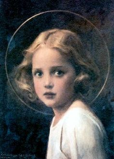 Mystical Rose, Young Mary - C. Bosseron Chambers, 1920.
